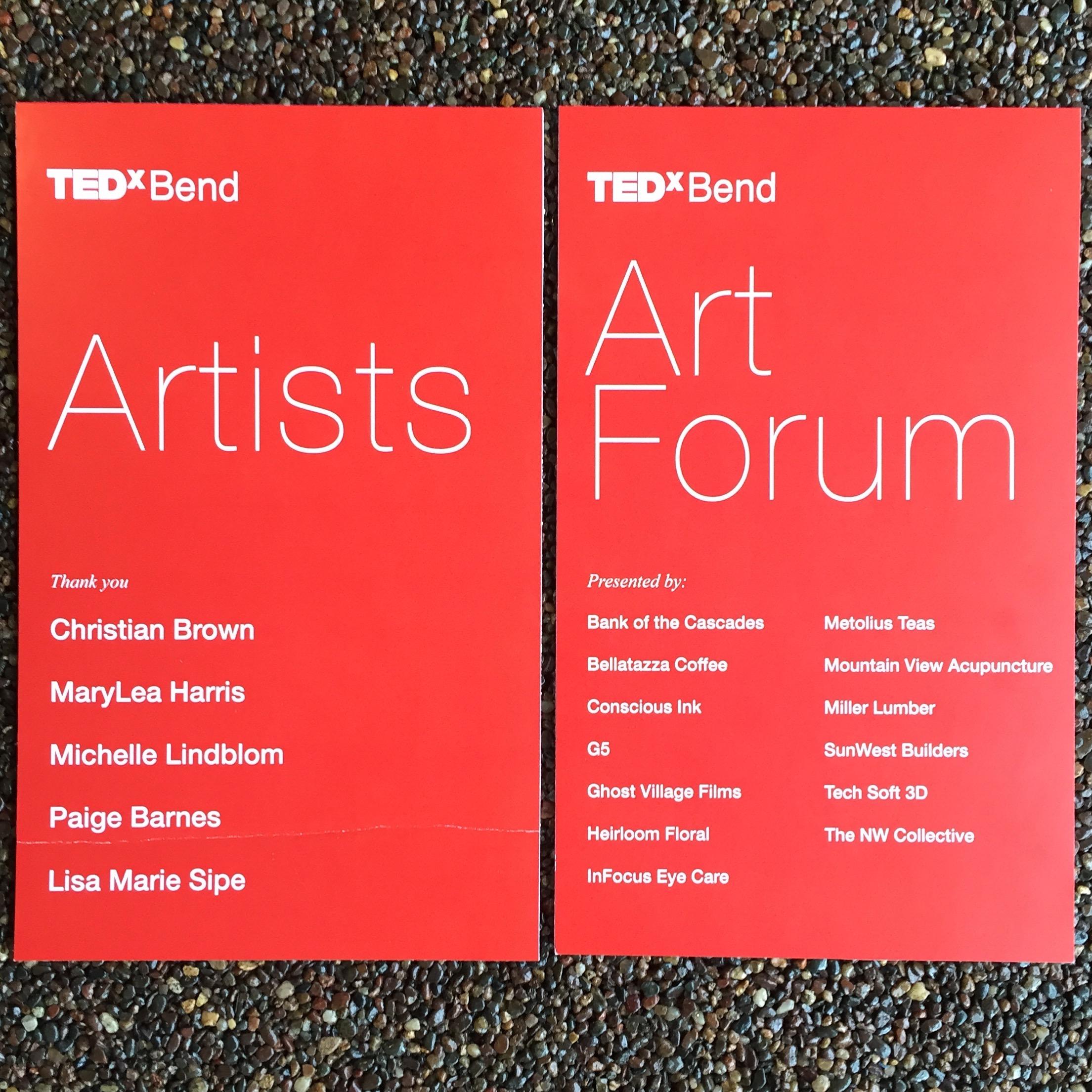 TEDxBendSignMaryLeaHarrisART
