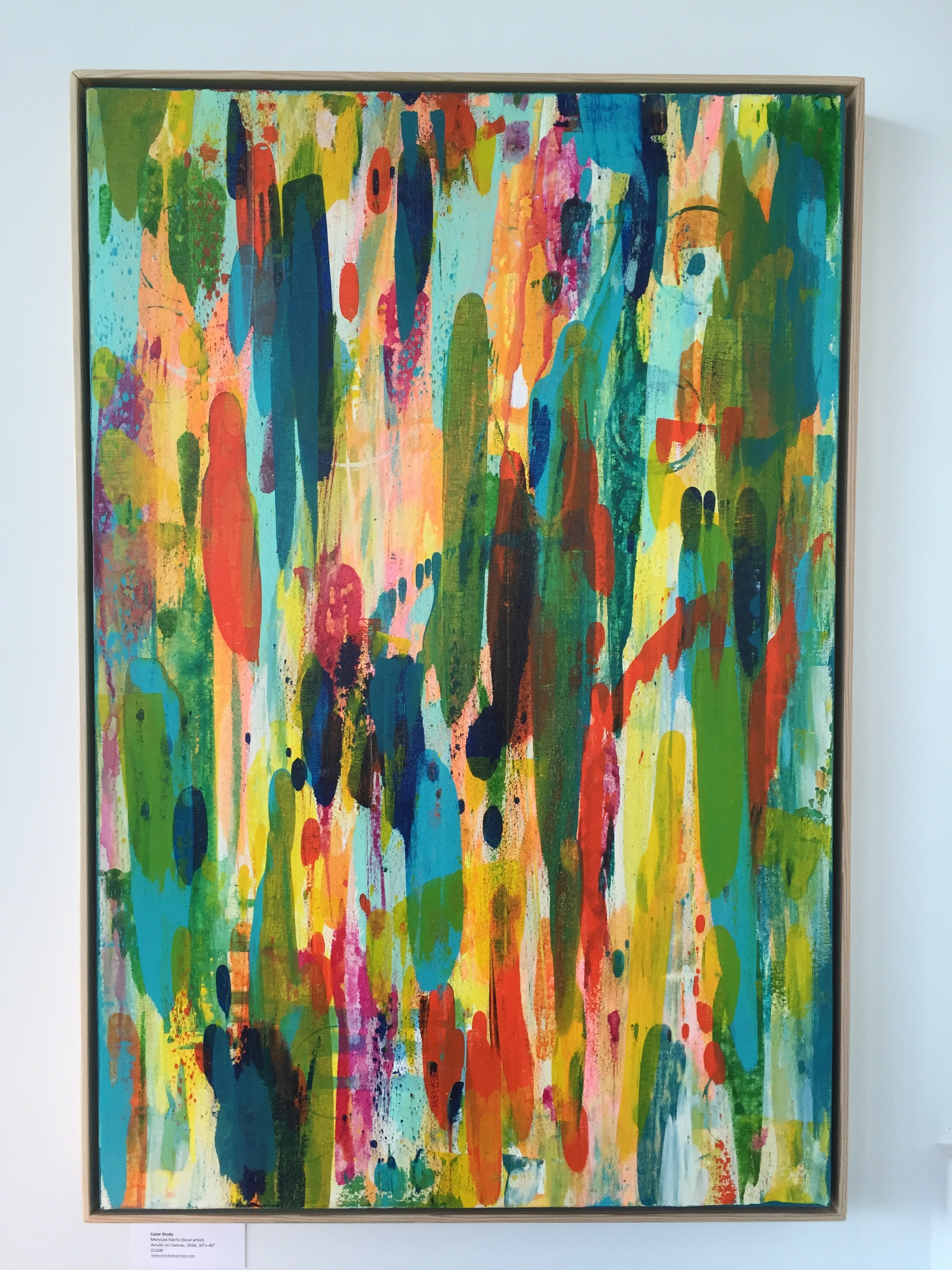 """Color Study"" 2016, MaryLea Harris 24"" x 36"" available for sale at FURNISH Modern in Bend, OR."