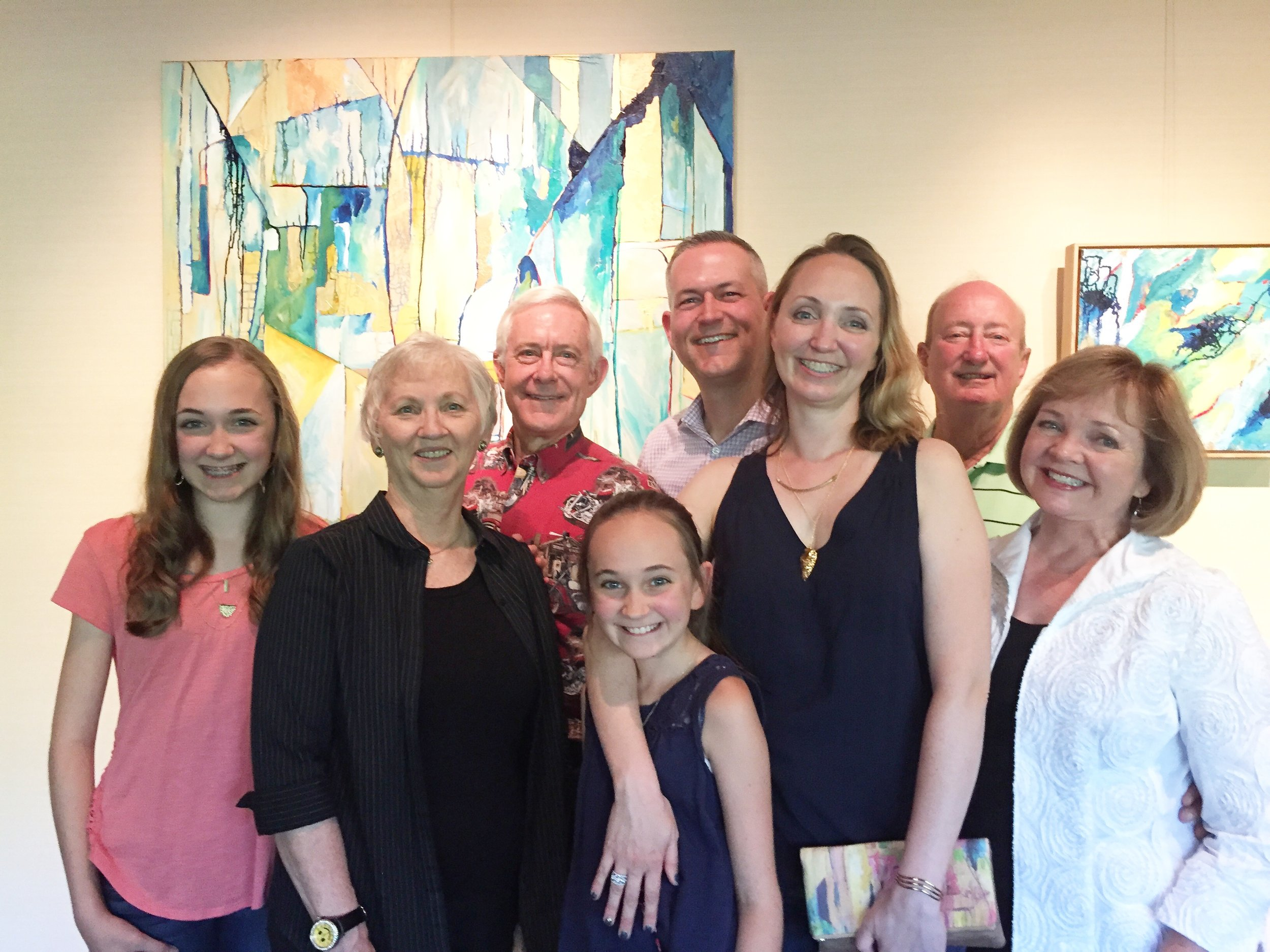 I was so happy to have my family in town for the show opening this year! So grateful for their love and support.