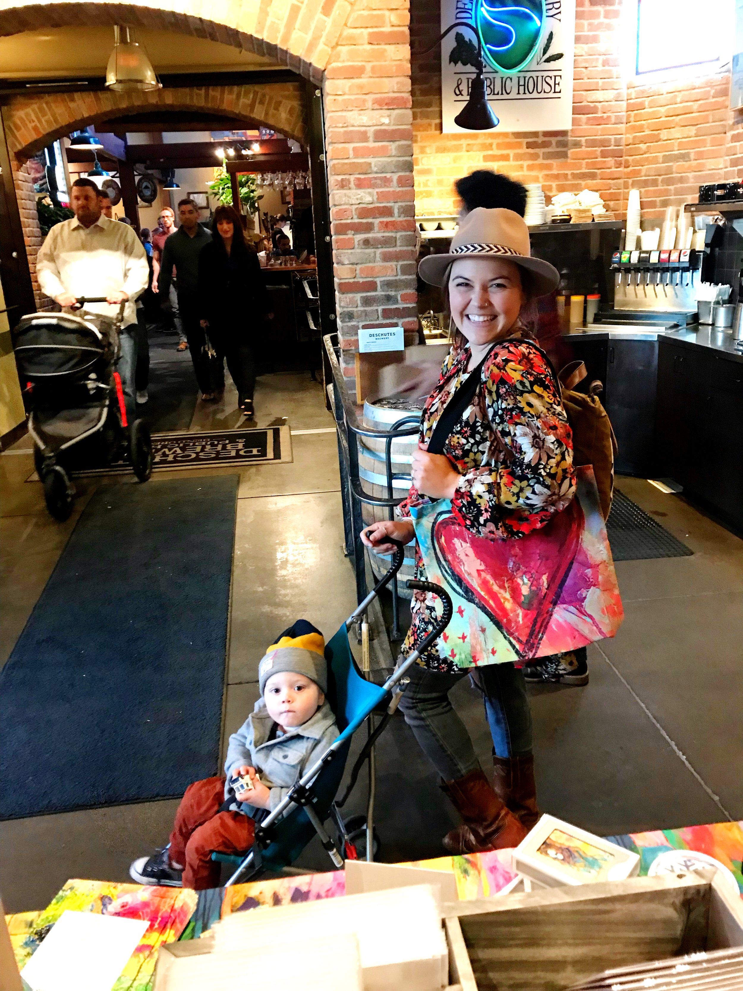 Adorable happy customer with one of my NEW LOVE Wins Tote bags!