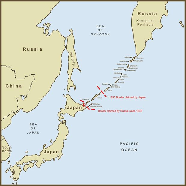 Japan-Russia, Kuril Islands Map.png
