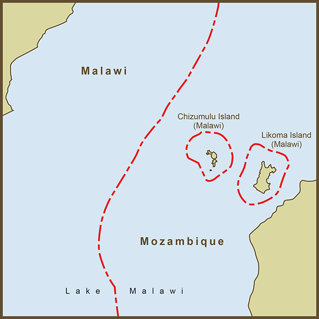 Malawi-Mozambique, Border Islands Map.png