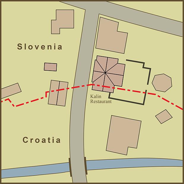 Croatia-Slovenia, Kalin's Restaurant Map.png