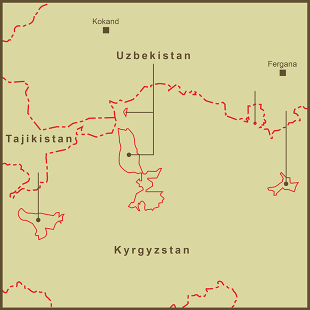 Kyrgyzstan-Uzbekistan, Exclaves Map.png