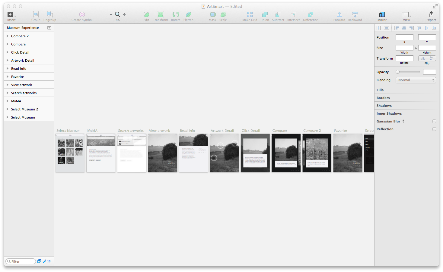 Wireframes in Sketch
