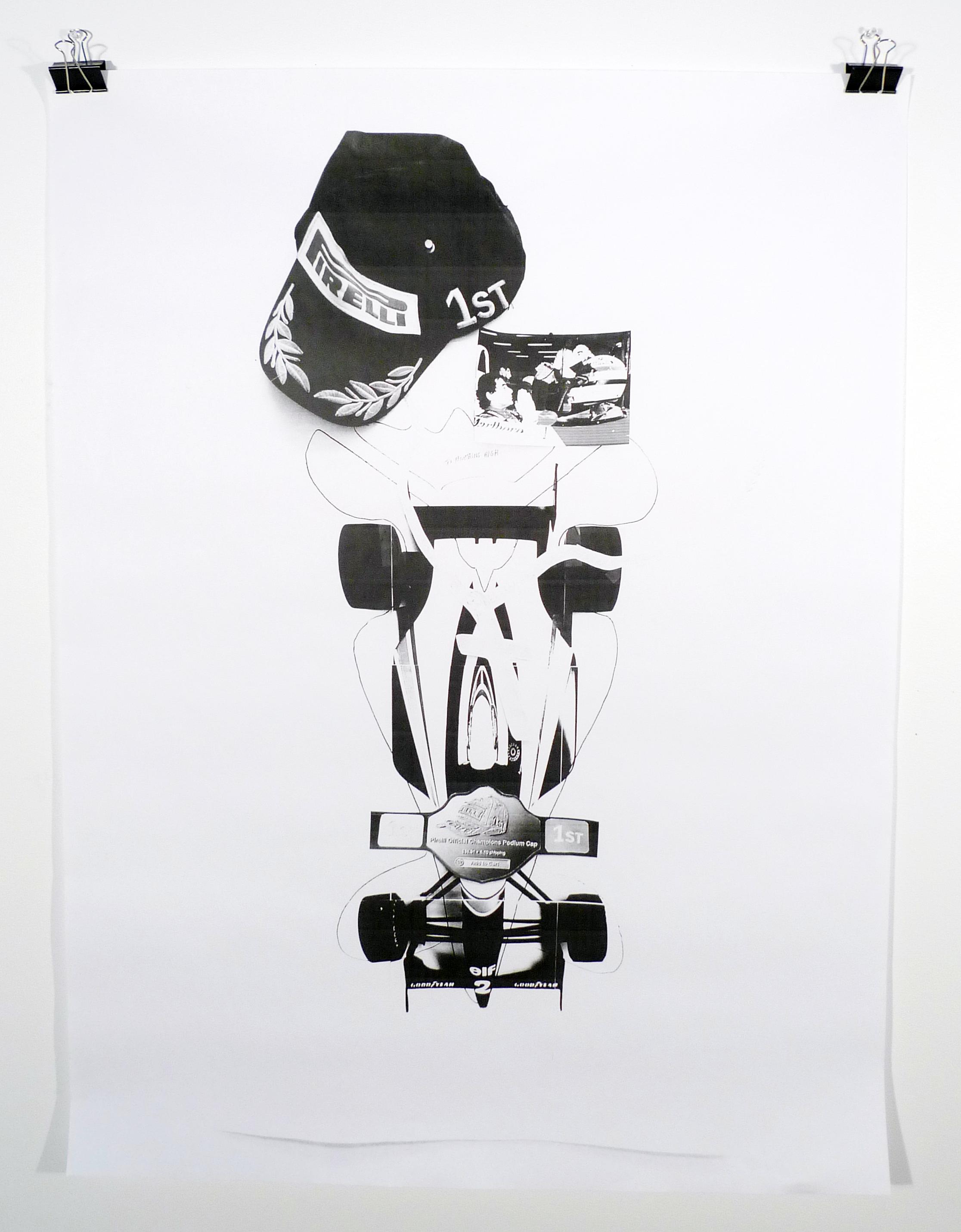 SENNA KING / BURIED  , 2015  Black and white laserjet prints