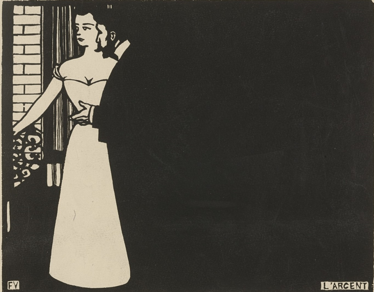 Money,  Felix Vallotton, 1897, woodcut on paper