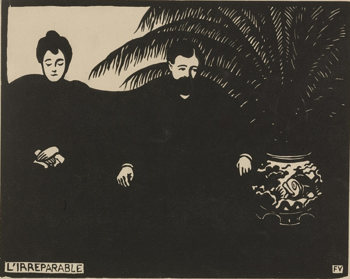 Irreparable,  Felix Vallotton, 1897, woodcut on paper
