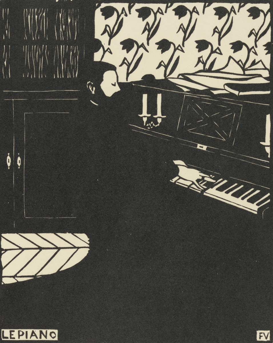 Piano,  Felix Vallotton, 1896, woodcut on paper