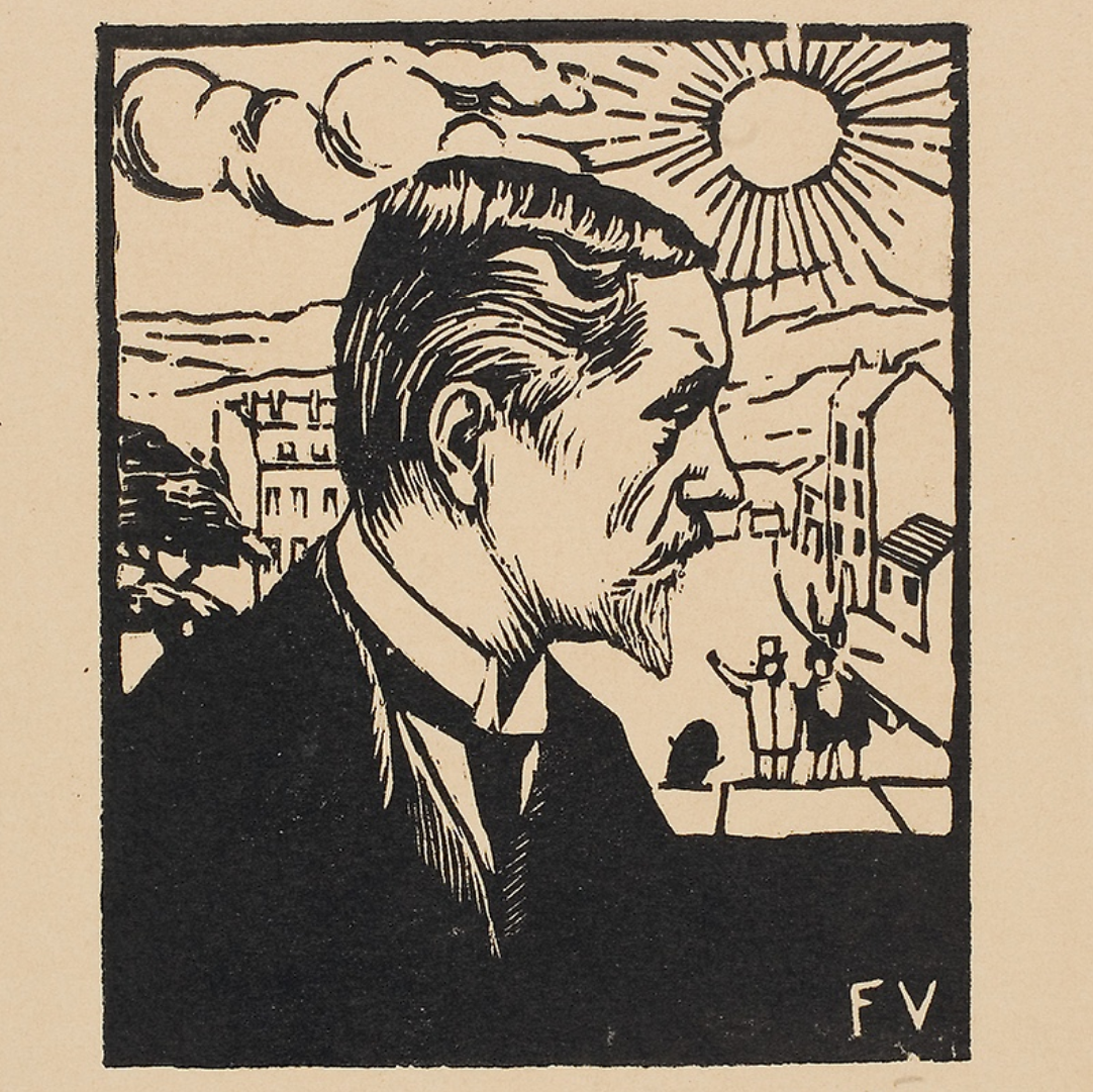 Self-Portrait , Félix Vallotton, 1891 Woodcut on paper
