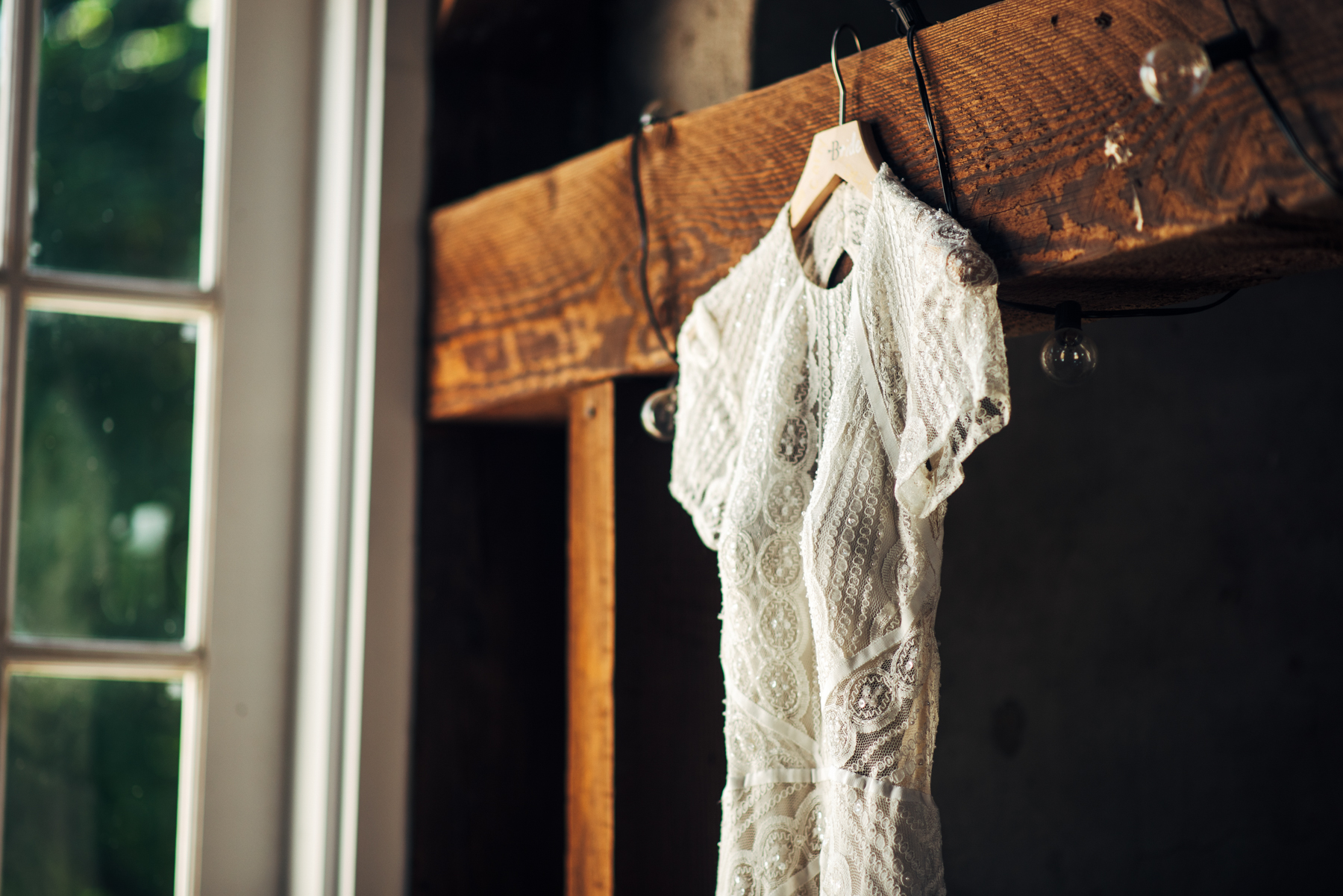 Gabriela's BHLDN dress was gorgeous  -