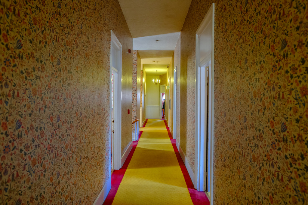 The hallways remind you of The Shining.