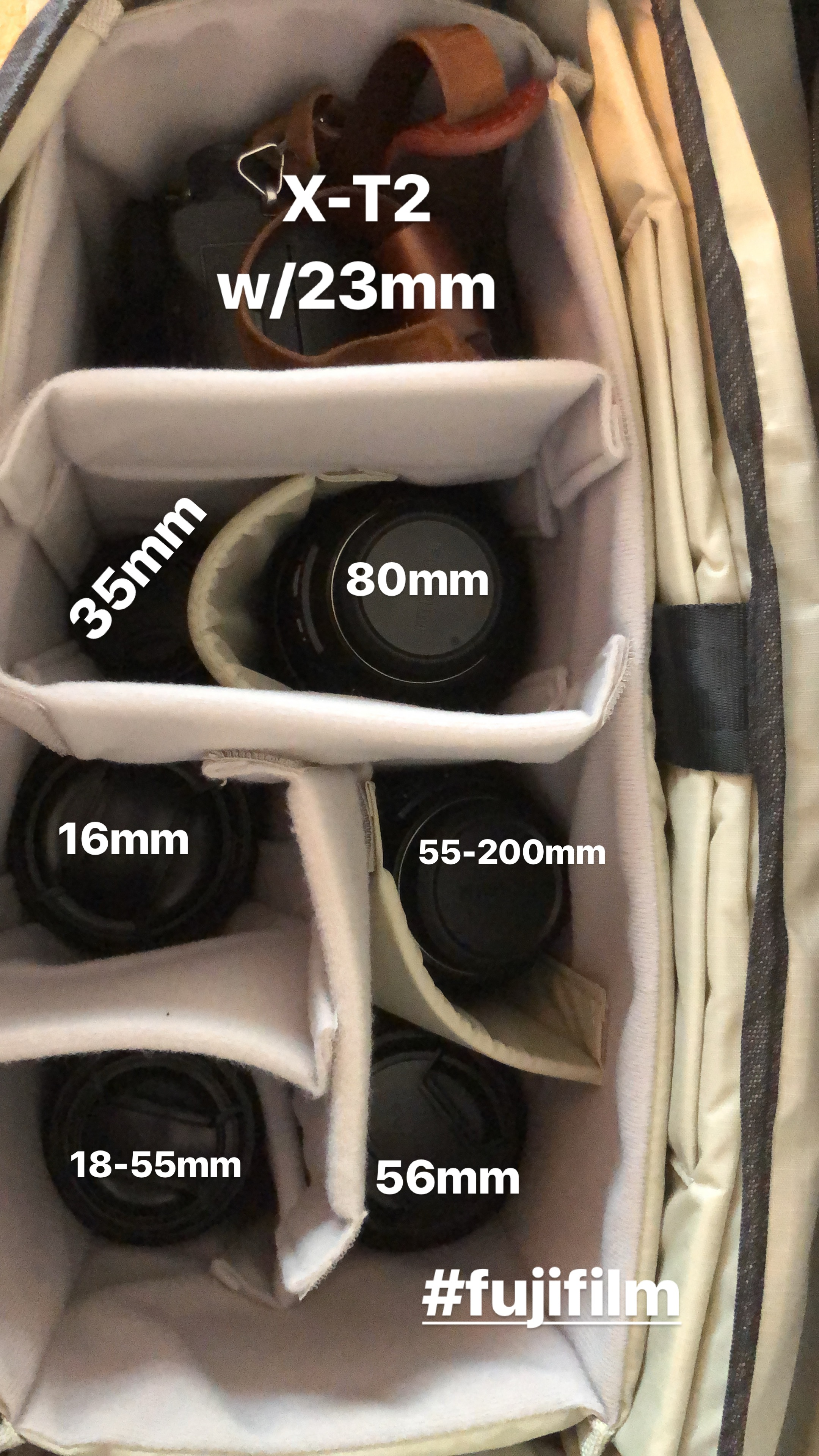 When using the DNA 13, I had to stack the smaller lenses.  With the 15, I could put them side by side.
