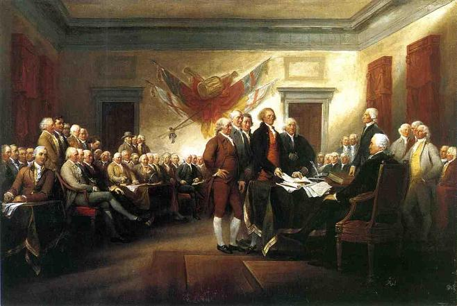 """""""The Declaration of Independence"""", 1794, by John Trumbull. Image Source: artinthepicture.com"""