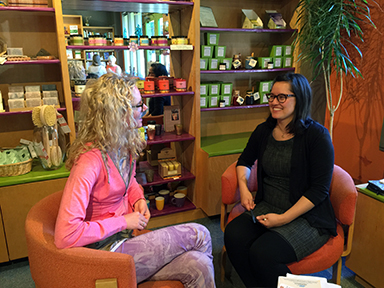 In-store event consultation at The Herbalist in Seattle.