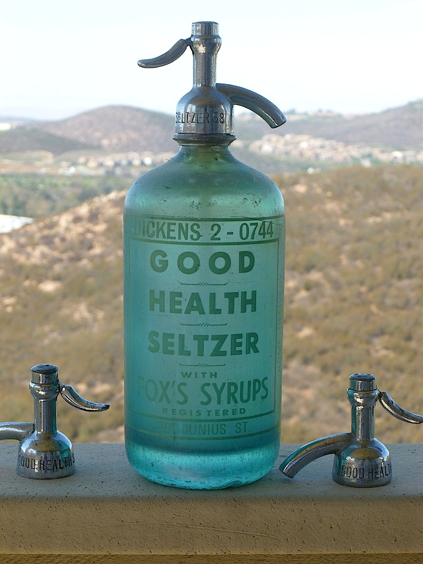SELTZER BOTTLE FROM THE COLLECTION OF RICHIE STRELL COURTESY OF RICHIE STRELL
