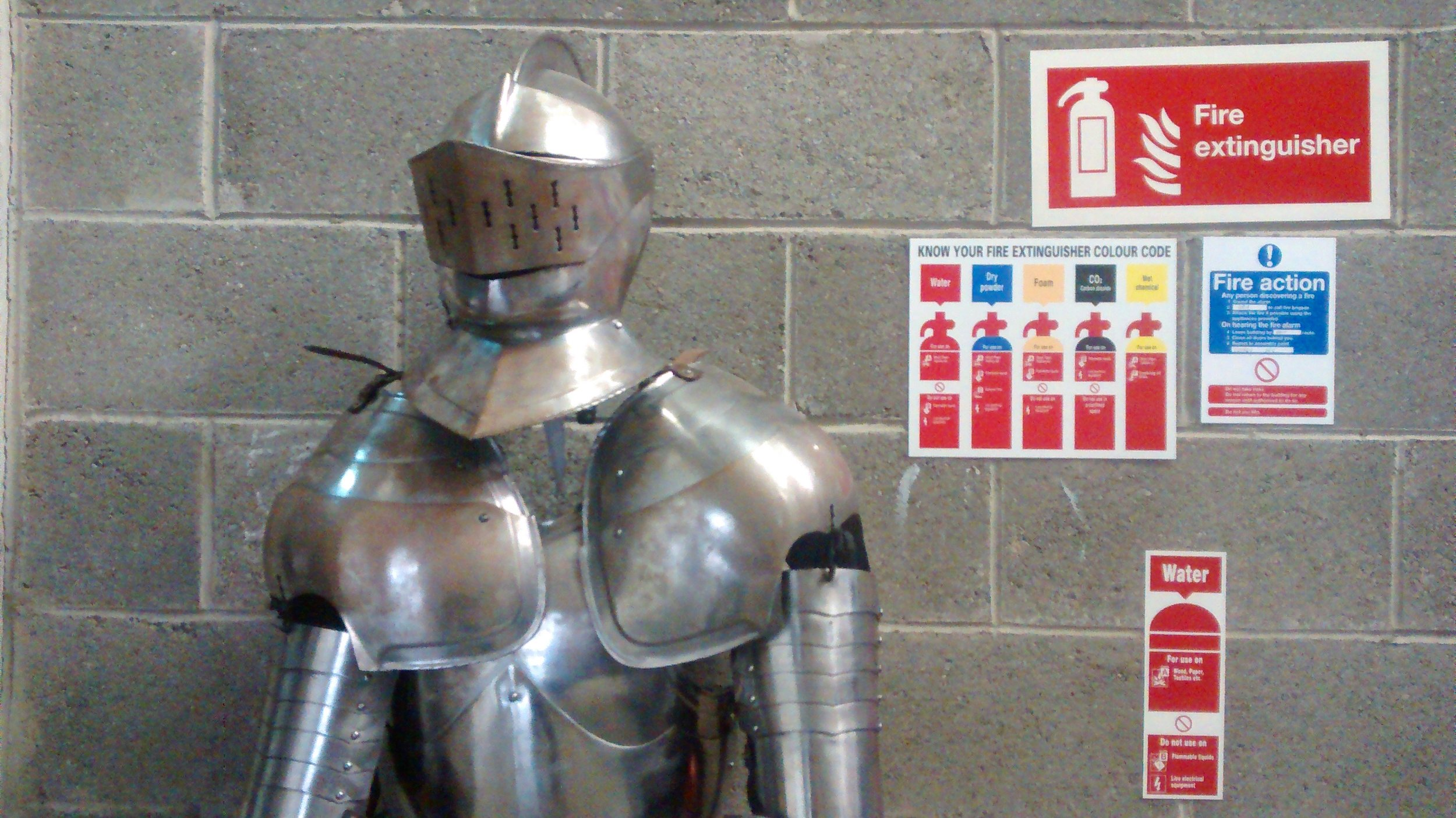Suit of armour in the warehouse