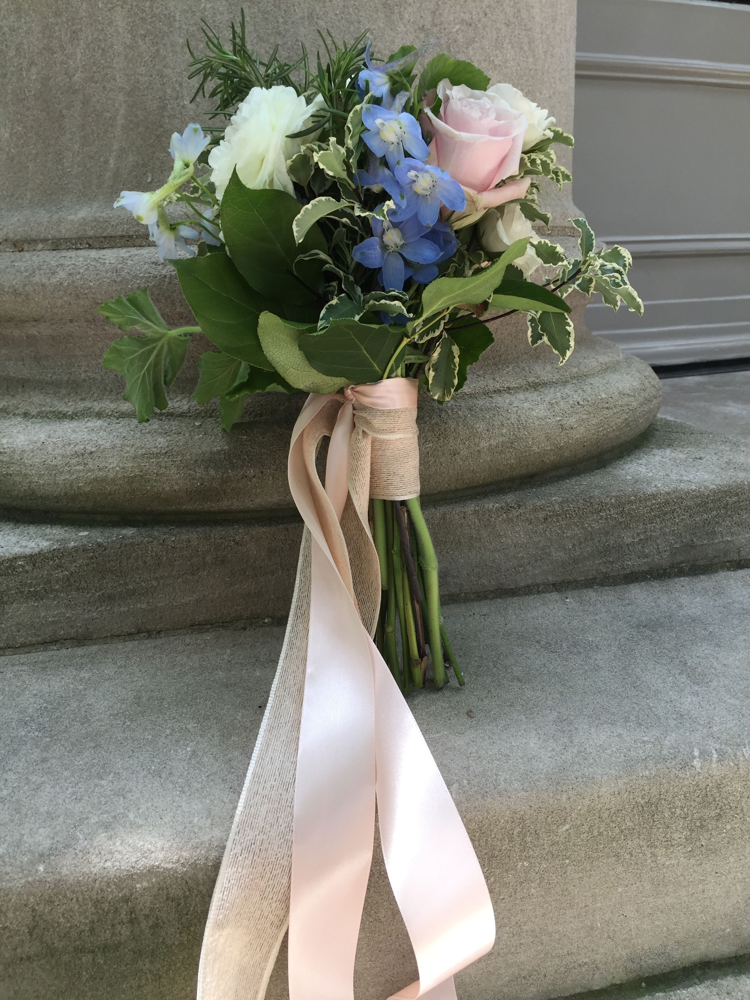 I arranged this bouquet before delivering a wedding to the Meridian International Center in Washington, DC.