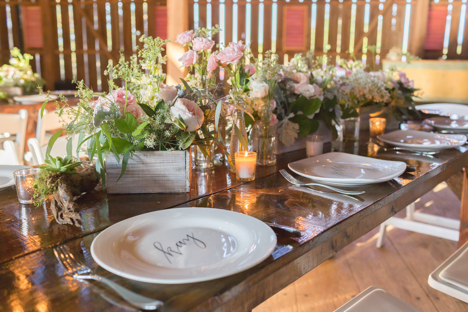 We will go over everything again, the number of guests, the number of tables, and the way each tablescape should look. Photography by Nicole Haun.