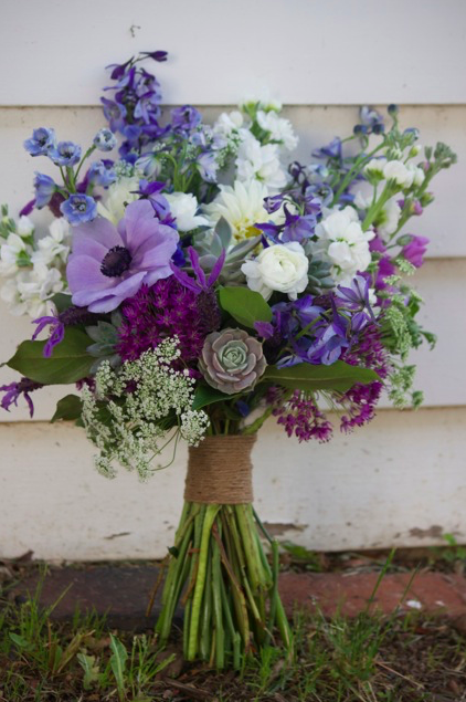 This is a more elaborate bouquet, but gives you a sense for the beauty of this art.