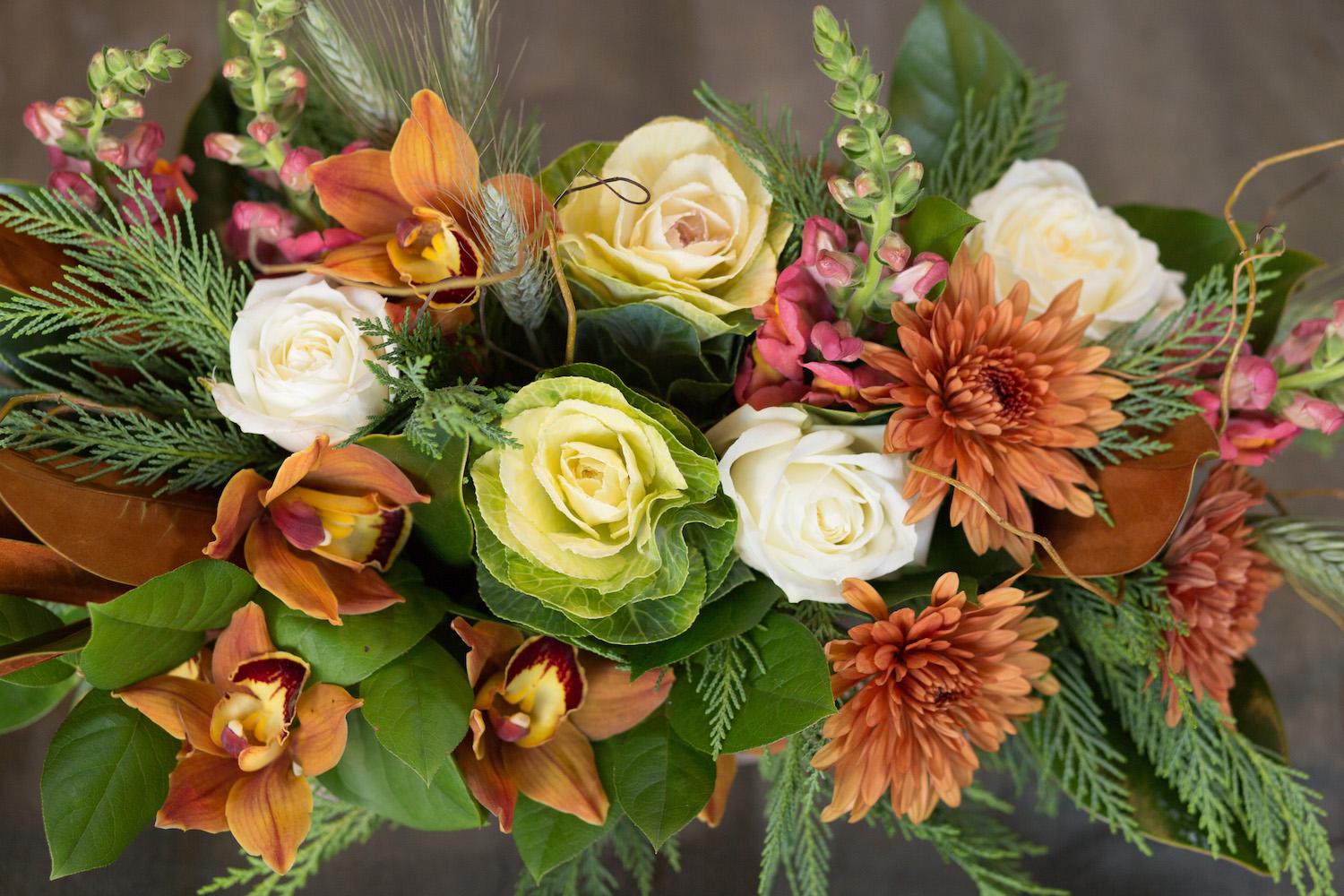 Some varieties that we may choose to work with included Snapdragons and Ornamental Kale.