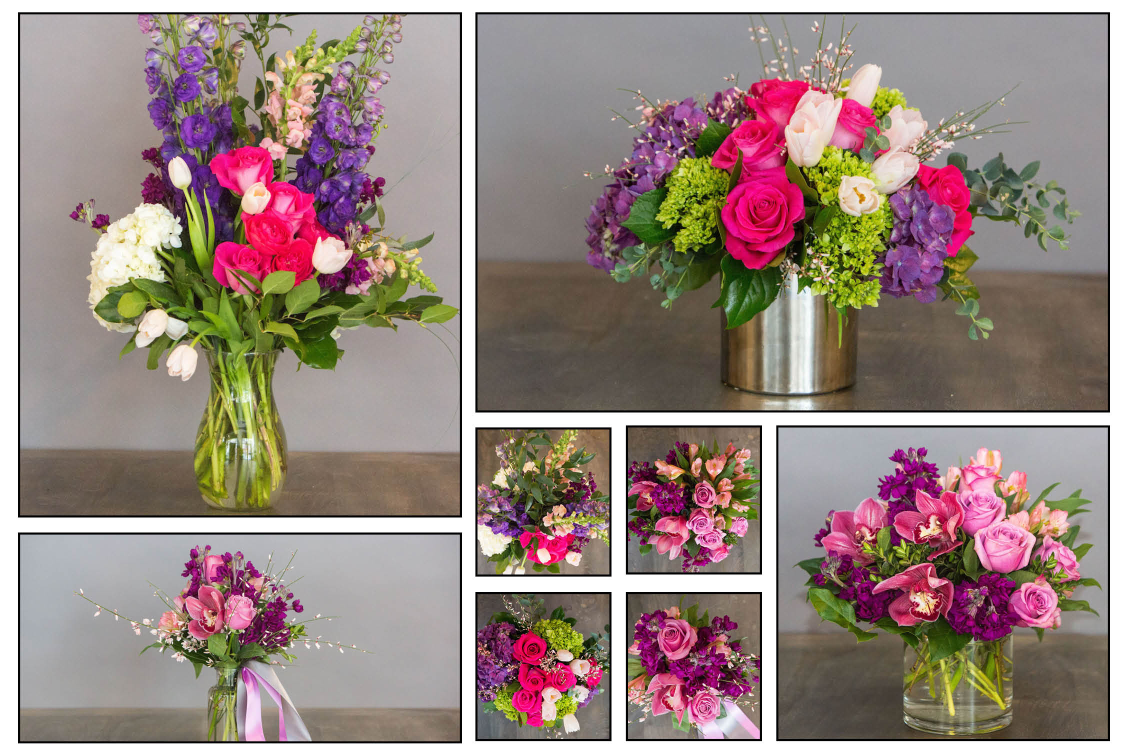 Purples: All Yours (top, left), Cupid's Best (top, right), Love Me (bottom, right) and Mine (bottom left).