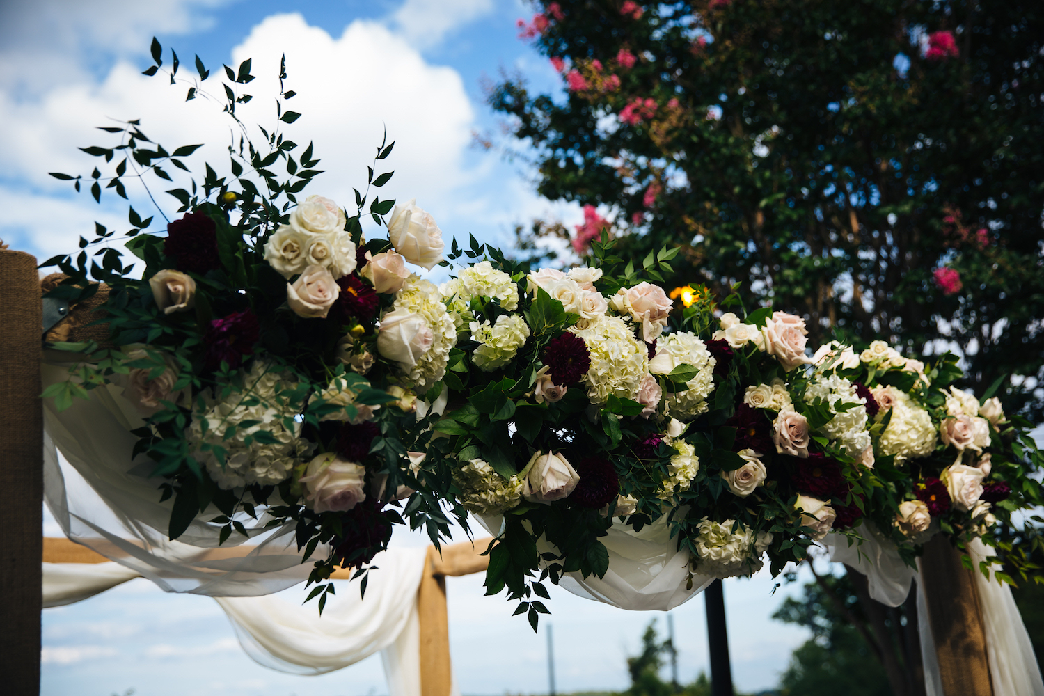Rental Chuppah in wood, photography by Life Gallery Studio.