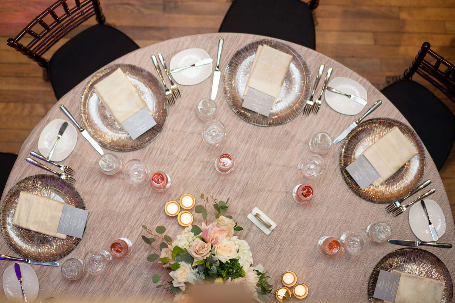 Aerial View Table Wedding