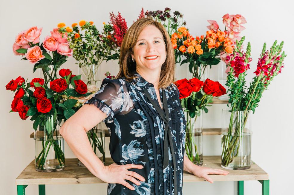 Jennifer Morris, owner of J. Morris Flowers in Leesburg, Virginia.