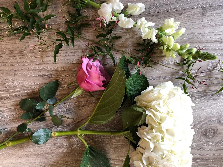 A floral design board.