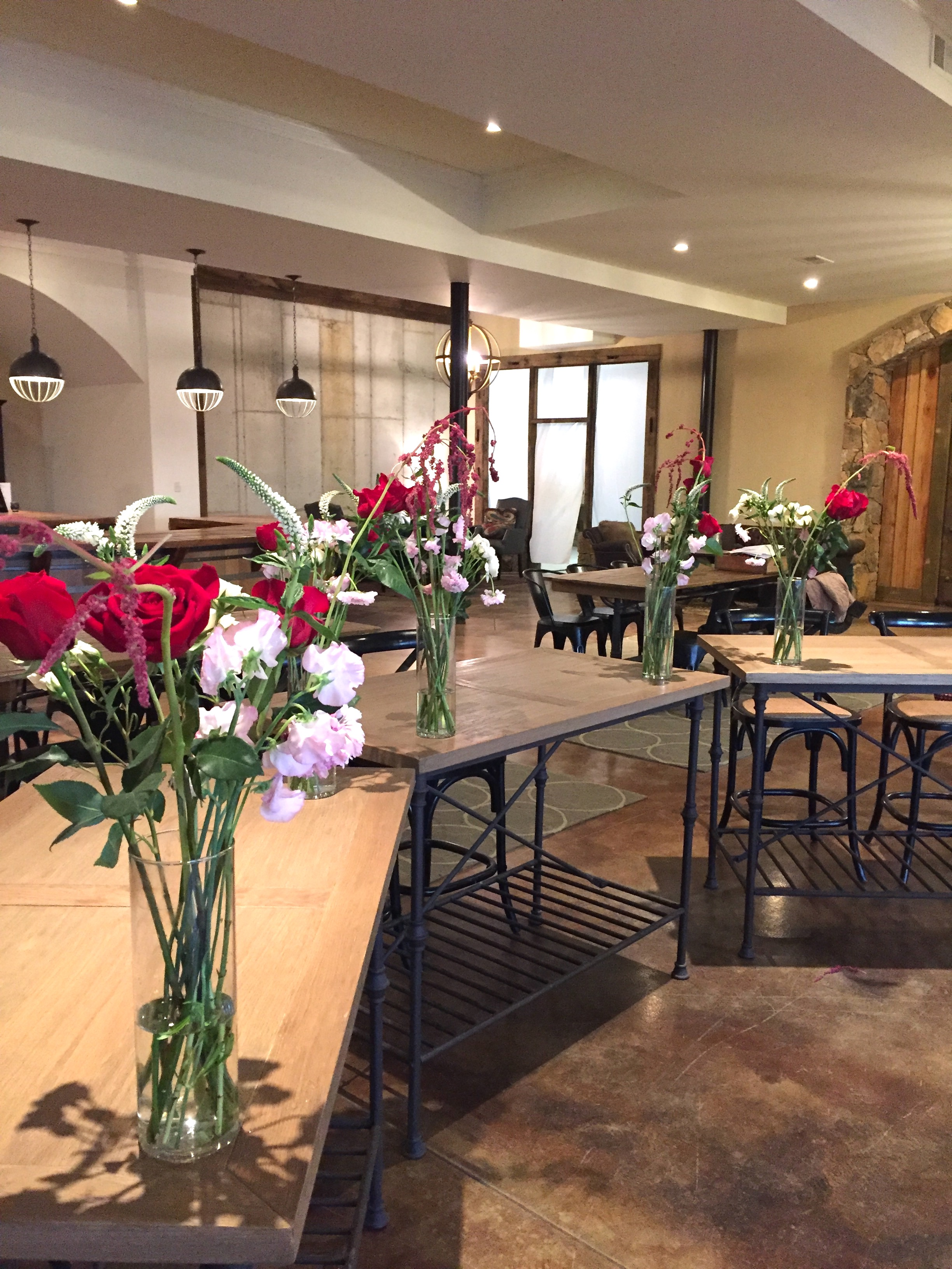 """Wine & Design"" Floral Design Class, Stone Tower Winery"