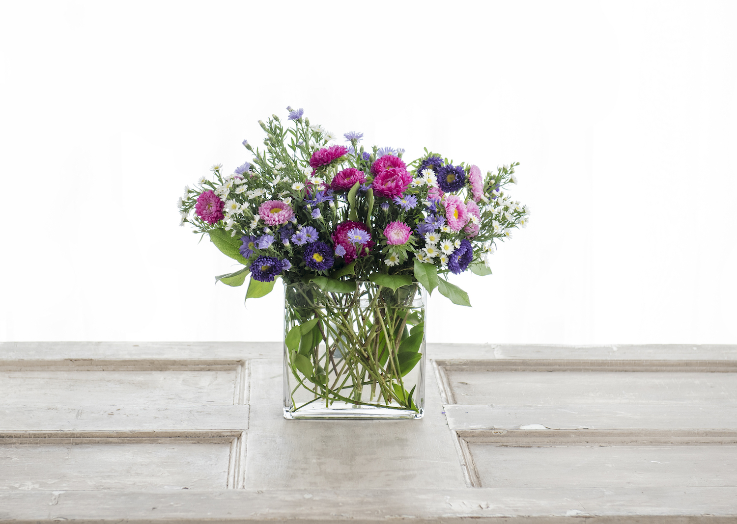 Delphinium and Snapdragon leading ladies in two Market Collection designs, wine not included.