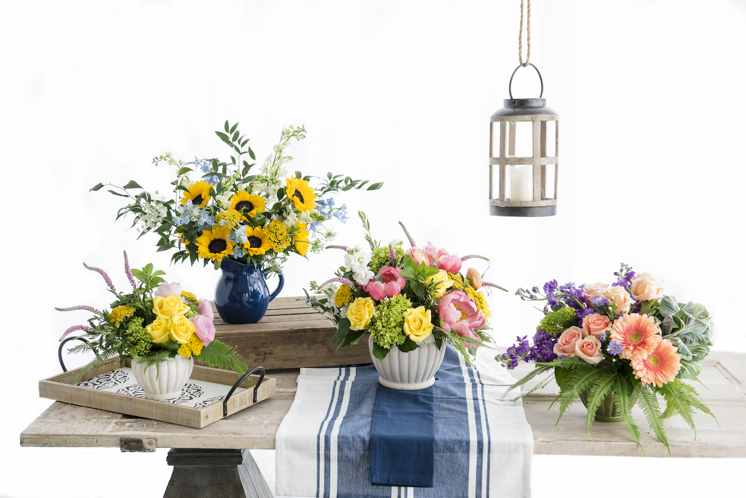 Designs from our Flower Market and Artisan Collections for J. Morris Flowers.
