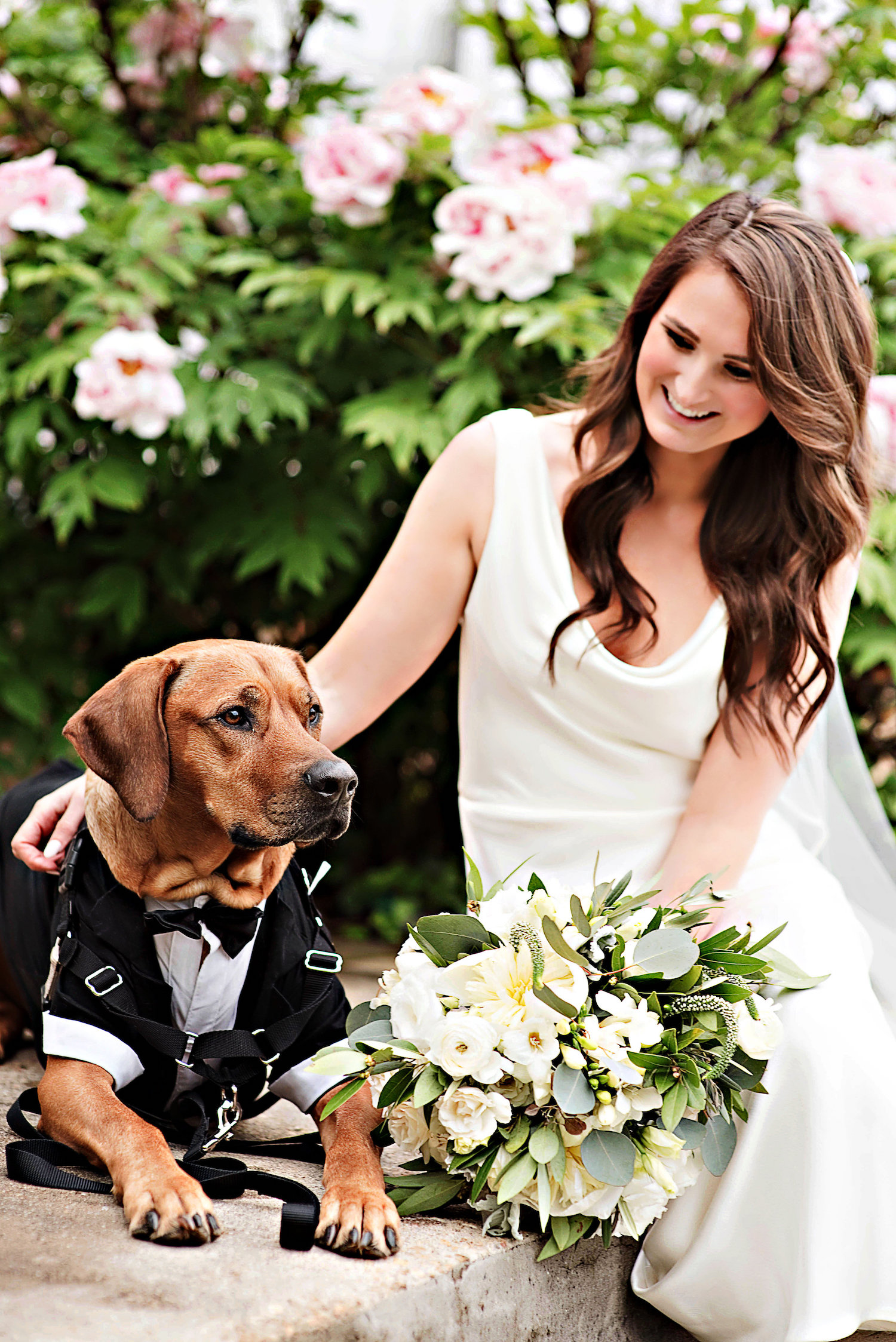 Kayla Plochan and her dog. Photographed by the Photography Smiths.