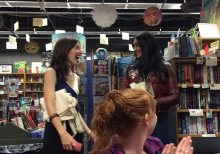 The lovely Stephanie Garber (author of CARAVAL) led a Q&A with Sabaa to kick off the launch.