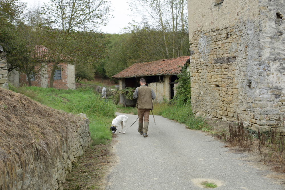 truffle hunter and his dog
