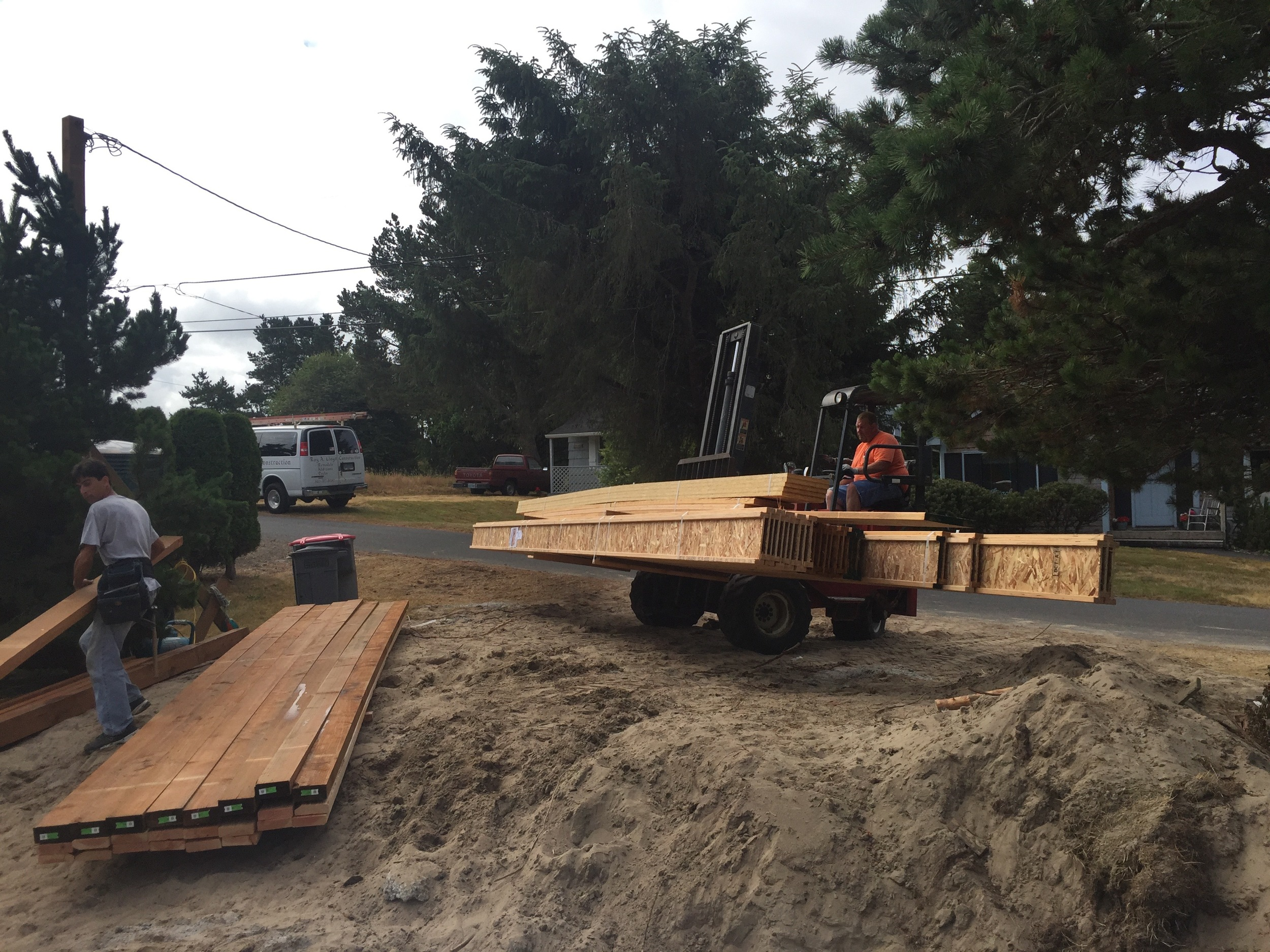 Lumber delivery