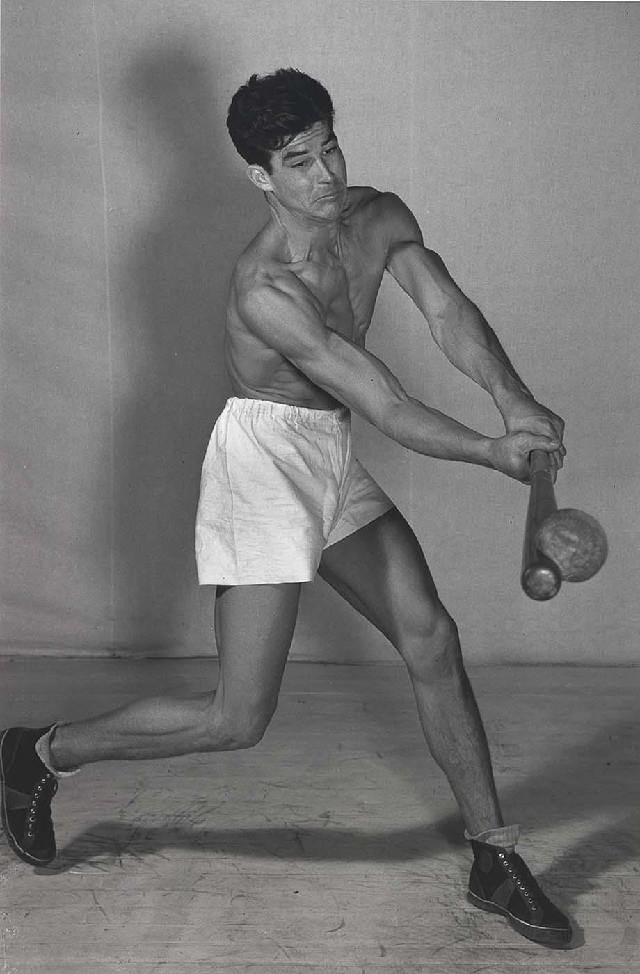 Harold E. Edgerton, Jim Dotson hits softball, 1938.jpeg