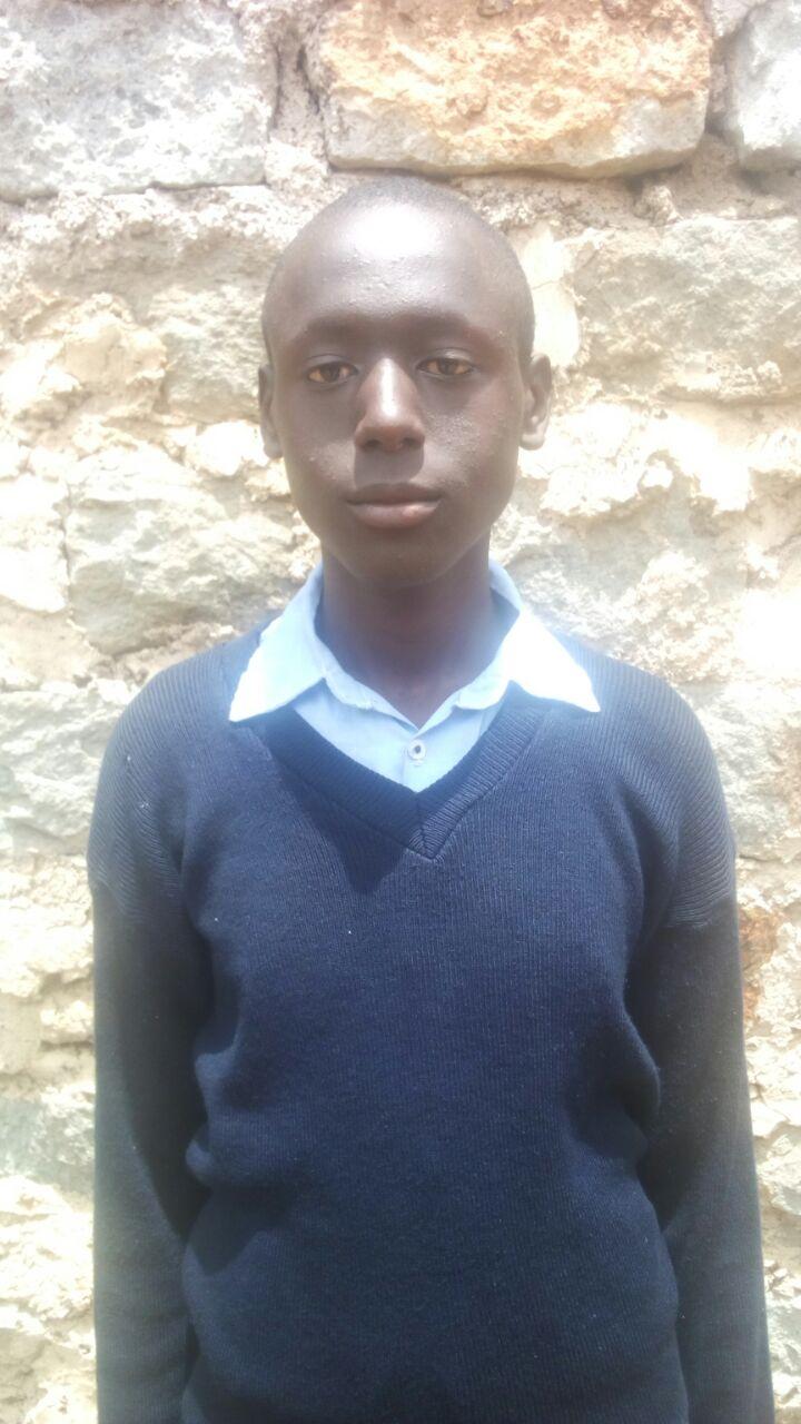 Antony Kiarii - Antony attends Joy Secondary School and is in Form 4.