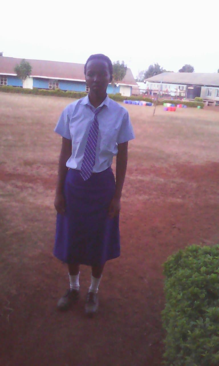Brenda Njeri - Brenda attends Mutuiga Girls High School and is in Form 3.