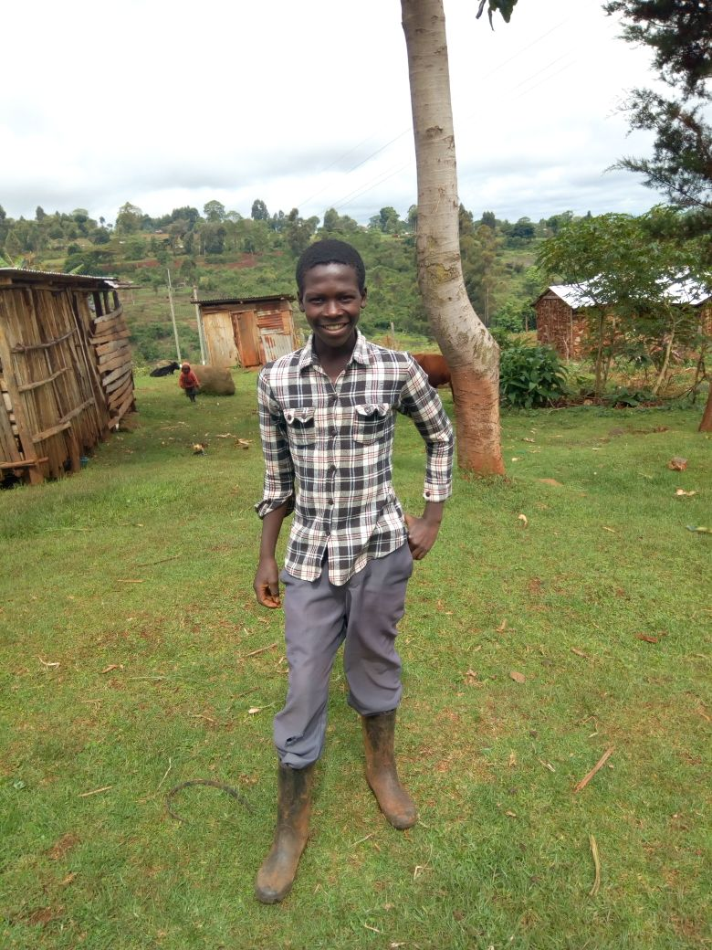 Abraham Ngeywa - Abraham attends Chemoge Secondary School and is in Form 4.