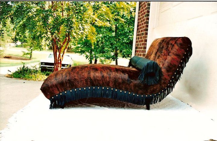 Two Fools Leather Goods, custom chaise lounge