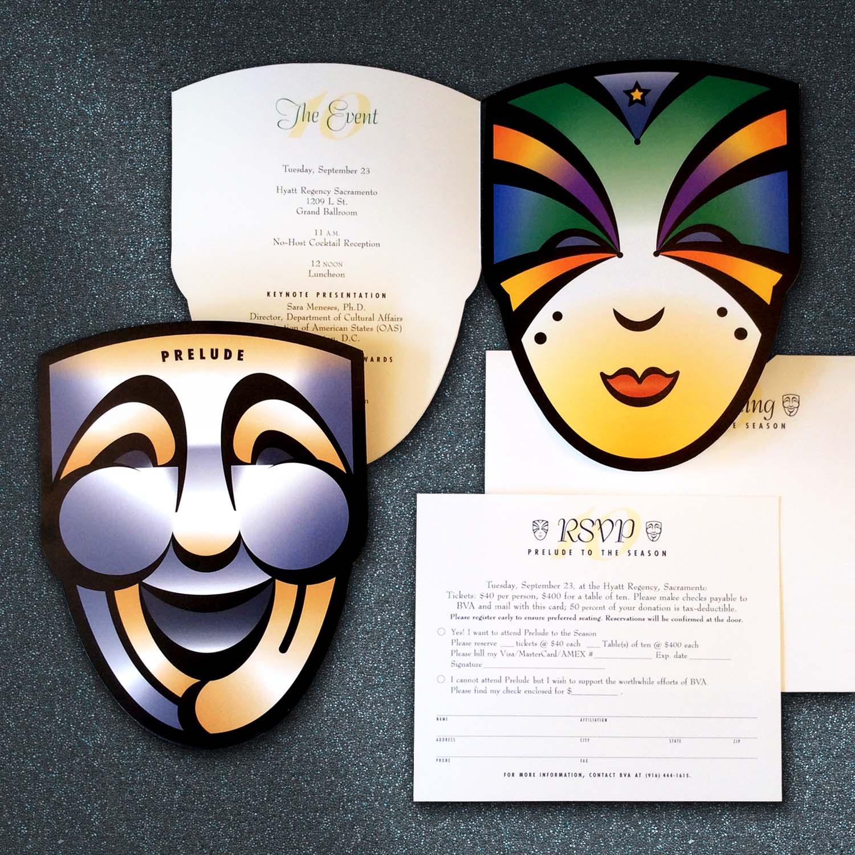 Business Volunteers for the Arts Invitation Design