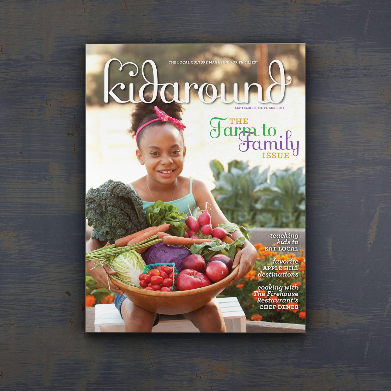 Editorial Design for Kidaround Magazine Farm Cover