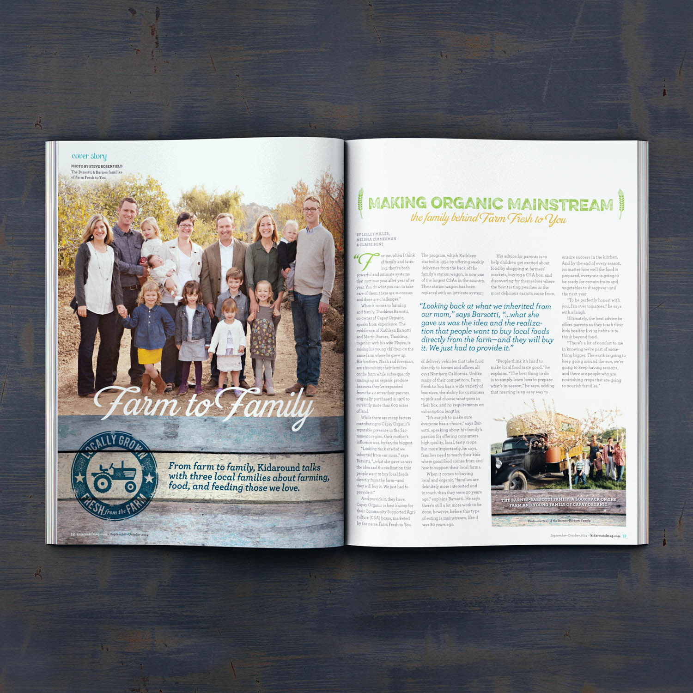 Editorial Design for Kidaround Magazine Farm Spread