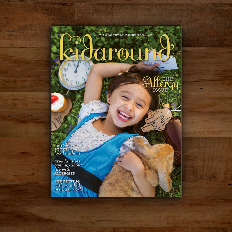 Editorial Design for Kidaround Magazine Allergy Cover