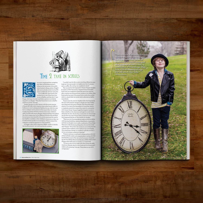 Editorial Design for Kidaround Magazine Allergy Spread