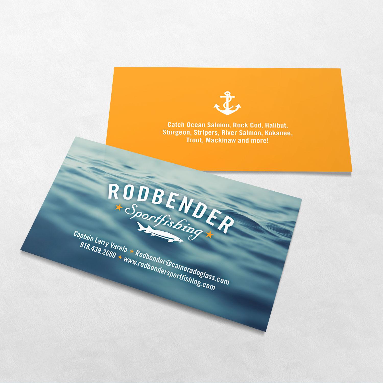 Rodbender Sportfishing Business Card Design