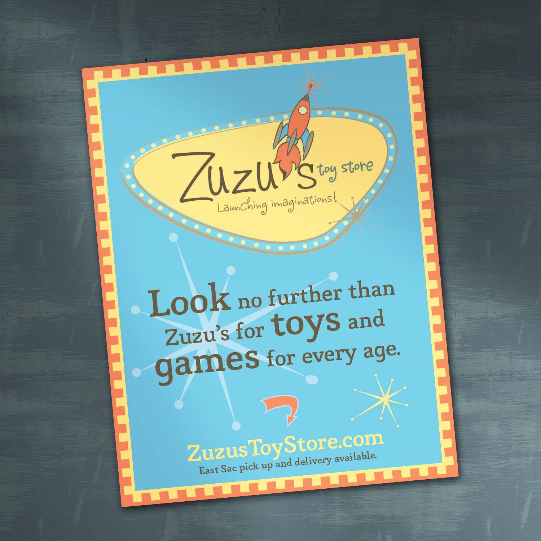 Zuzu's Toy Store Ad Design