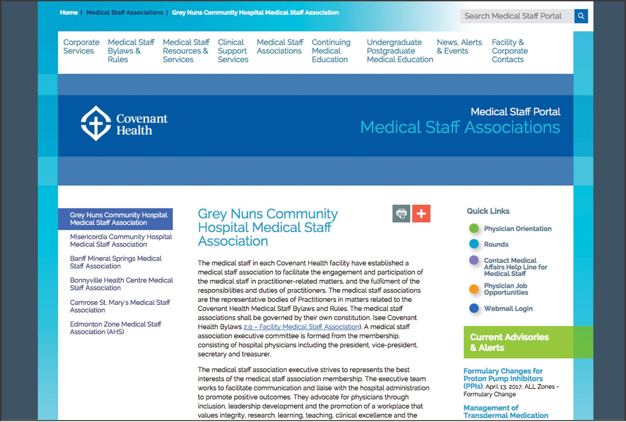 Medical staff portal
